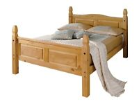 -50%!!! NEW Puerto Rico Double Bed Frame - Light
