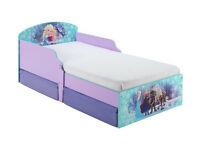 Disney Frozen Toddler Bed with Drawers - Multicoloured