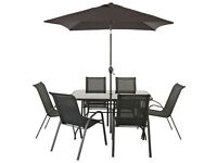 HOME Sicily 6 Seater Patio Set (parasol not included)
