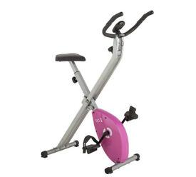 Opti Folding Exercise Bike - Pink