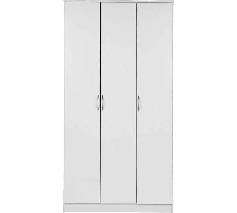 Cheval 3 Door Wardrobe - White