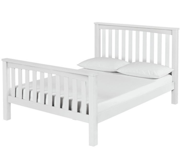 Maximus White Bed Frame - Small Double