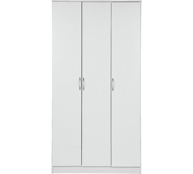 Cheval 3 Door Wardrobe - White