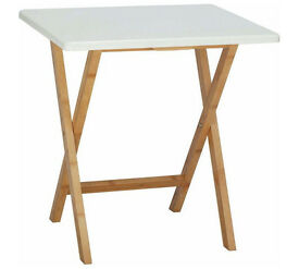 Habitat Drew 2 seater white folding dining table
