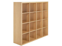 Hygena Squares Plus 16 Cube Storage Unit - Oak Effect