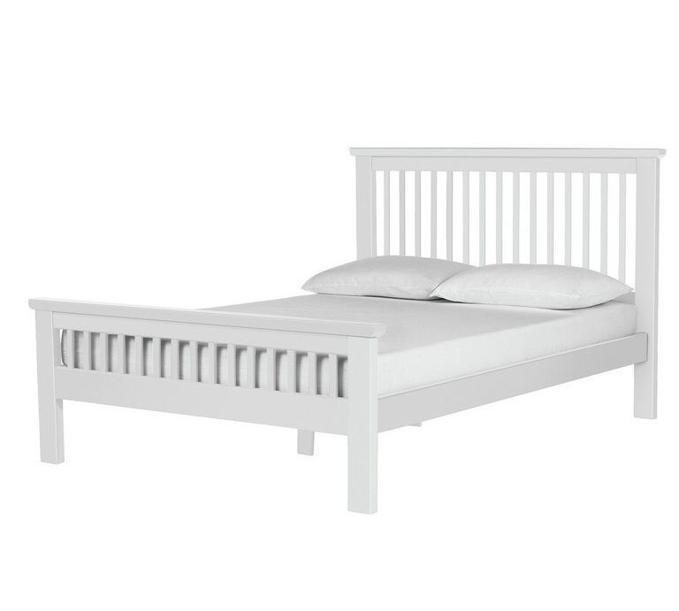 Collection Aubrey Double Bed Frame   White