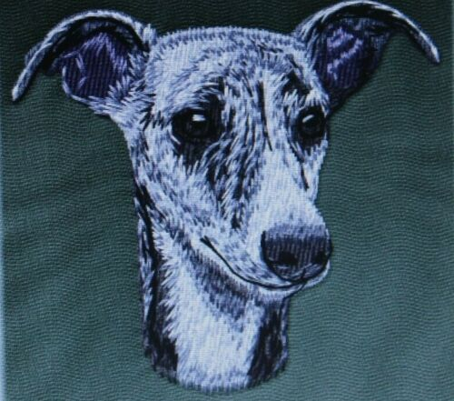 WHIPPET Dog Breed Bathroom SET OF 2 HAND TOWELS EMBROIDERED