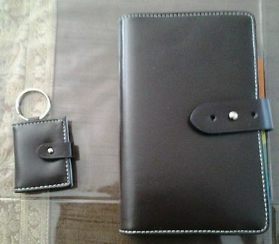 Brown And Blue Refillable Organizer And Keyring