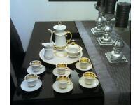 Fine bone China dolls tea set gold qilt