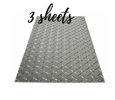 3 Sheet Diy M-d Building 12 X 24 In. Aluminum Diamond Tread Sheet Metal