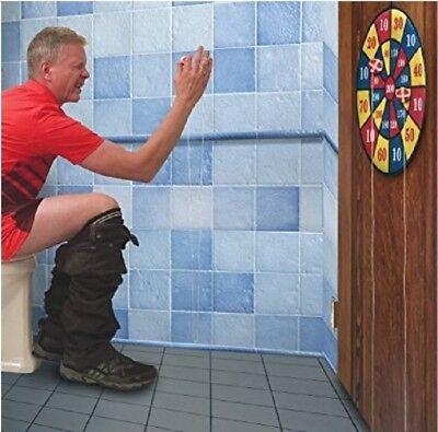 Toilet Bathroom Target Darts Board Ball Potty Loo Toilet Boredom Game Fun  Gift