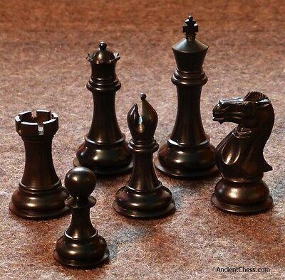 - GENUINE EBONY CHESS MEN BOLD STALLION REFINED STAUNTON SET K=4.2