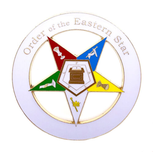 Deluxe O.E.S. Order of the Eastern Star car emblem 3 inch  #CD16