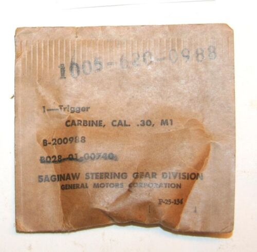 M1 Carbine Trigger, Saginaw  - New in Package  - #C3