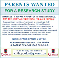 PARENTS TO JOIN UNIVERSITY STUDY, WE $ PAY $ YOU!