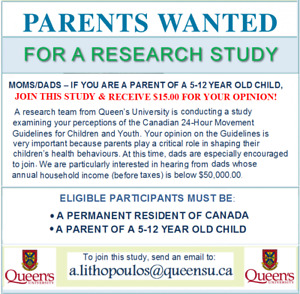 PARENTS GET $PAID$ FOR YOUR OPINION, JOIN UNIVERSITY STUDY!
