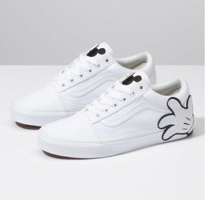 Vans x Disney Old Skool Mickey Mouse Hand White Kids Youth