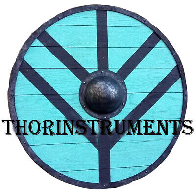 Large Round Shield (Functional Viking Wooden Large Round Shield with Steel )