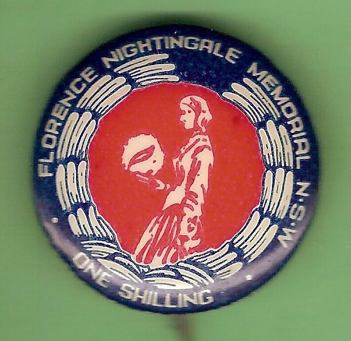 #D250. . TIN BADGE - FLORENCE NIGHTINGALE MEMORIAL NSE, ONE SHILLING