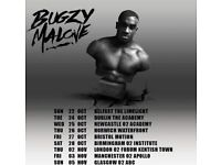Bugzy malone Birmingham 28th October 3 tickets