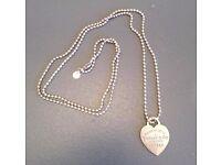 Tiffany Women's Heart Tag Pendant