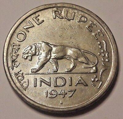 One 1 Rupee India 1947 George VI King Emperor Inde Colonie Britannique