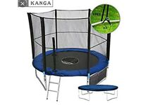 Kanga 8ft trampoline with safety net. Delivery available