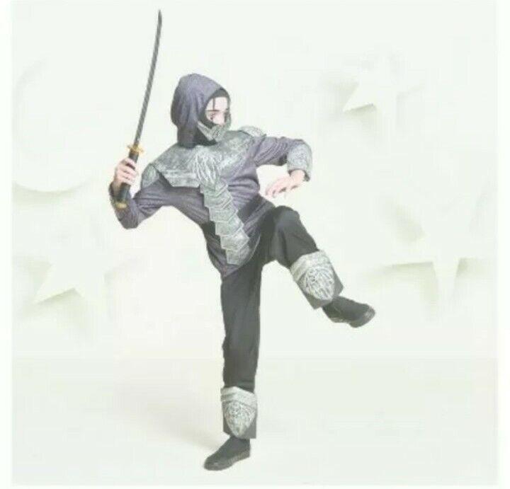 Hyde & Eek! Boys Armored Ninja Costume Large 12-14 Halloween NEW