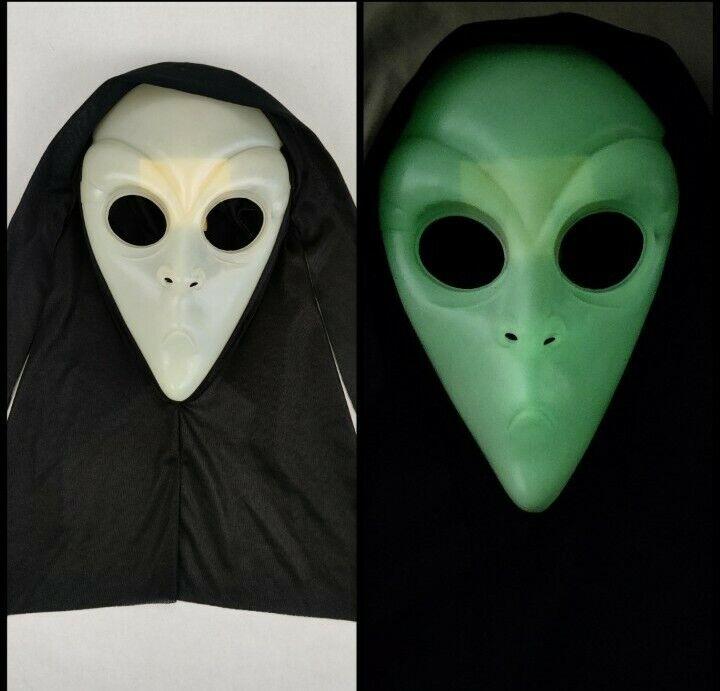 Easter Unlimited Vintage Halloween Alien Face Mask Glow In Dark