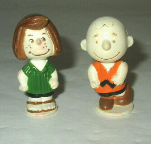 Vintage Charley Brown & Peppermint Patty Figures