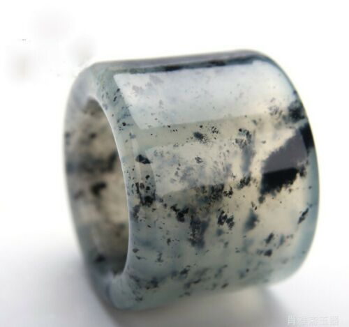 China handmade Natural jade carving natural Jade Thumb ring