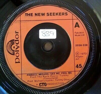 """Pinball Wizard - The New Seekers 7"""" Vinyl Single In VGC"""