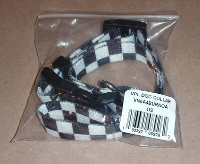 VANS Family Checkered Adjustable Dog Collar VN0A4BURNOA New