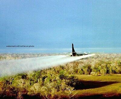 "Fairchild UC-123B Provider Sprays Agent Orange 8""x 10"" Vietnam War Photo 47"