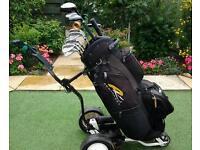 Golf clubs/trolley /bag +++