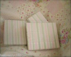 Rachel Ashwell Double Bed 4 Piece Sheet Set Shabby Pink White Green Cabana Chic