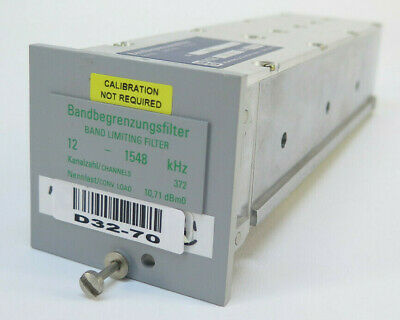 Wandel Goltermann Band Limiting Filter 12 - 1548 Khz - 372 Ch - Rsb-121548