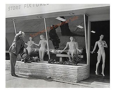 Vintage 1947 Photo - Nude Mannequins Store Display Modernist Fashion Week NY