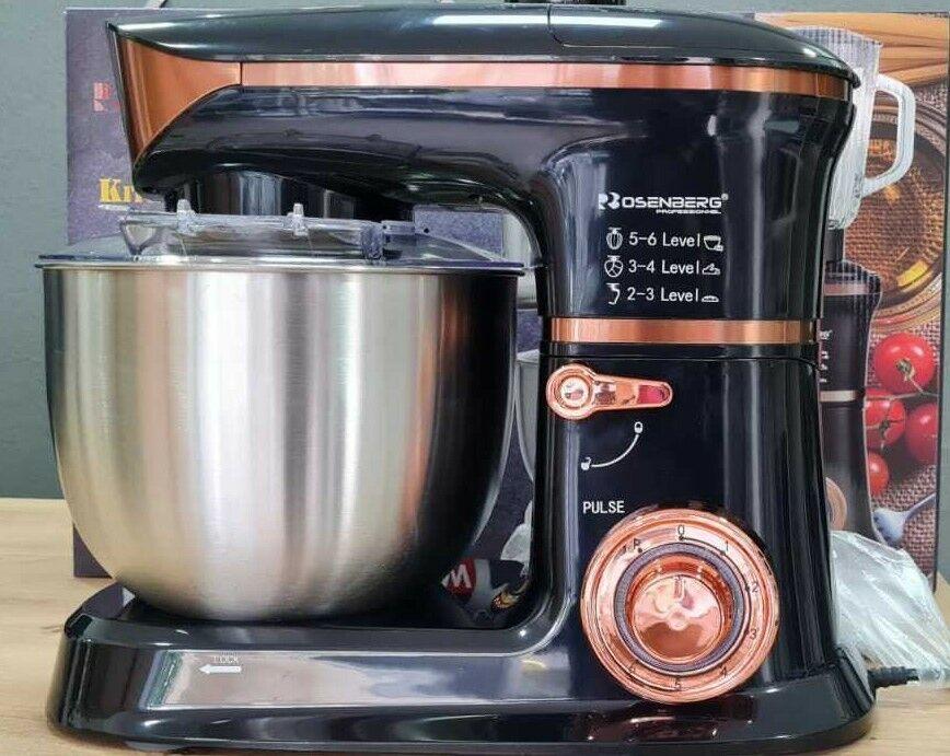 3 in1 Küchenmaschine StandMixer  Küchenroboter Fleischwolf Teigkneter 6,5L 2000W