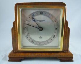 ELLIOTT MAHOGANY CASED WINDING MOVEMENT TIMEPIECE MANTLE CLOCK WORKING