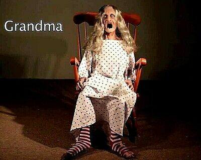 Distortions Unlimited Rocking Granny Scary Animated Halloween Prop