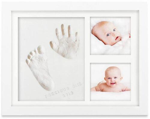 Bubzi Co Clay Handprint Footprint Photo Frame Kit For Baby Newborn Girls Boys
