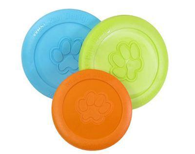 West Paw Zisc Dog Disc US Made Dog Frisbee Heavy Duty Flexible Fetch Dog