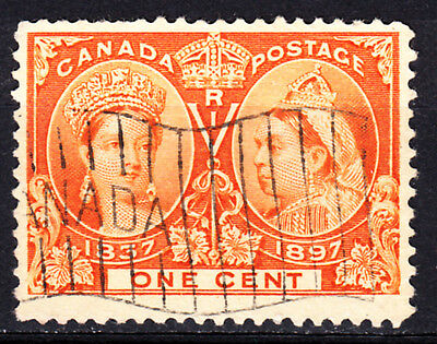 CANADA sc# 51 QUEEN VICTORIA JUBILEE ISSUE OF 1897 USED  VG  C529
