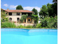 Traditional Gascon farmhouse with annexe and swimming pool close to the Pyrenees. SW France.