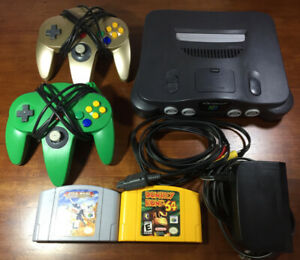 Nintendo 64 lot - System, Controllers, Games