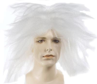 BEETLE JUICE WHITE MAD SCIENTIST PUNK STYLE LACEY WIG COSTUME ACCESSORY LW14WT](Beetle Juice Wig)