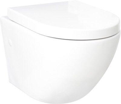 DOMINO KERAMIK HÄNGE-WC-TOILETTE #92035 SPÜLRANDLOS + SOFT-CLOSE WANDHÄNGEND