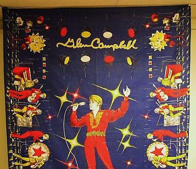 Glen Campbell - ORIGINAL 1970's Twin Bedspread - RARE!
