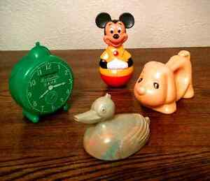 Vintage Baby Rattles Bank Toys Mickey Mouse